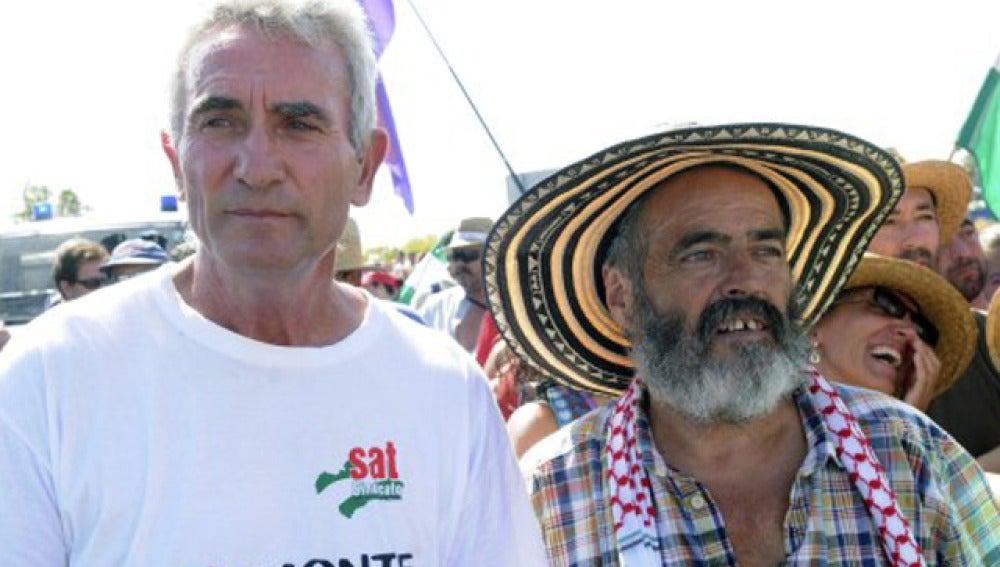 Sánchez Gordillo junto a Cañamero
