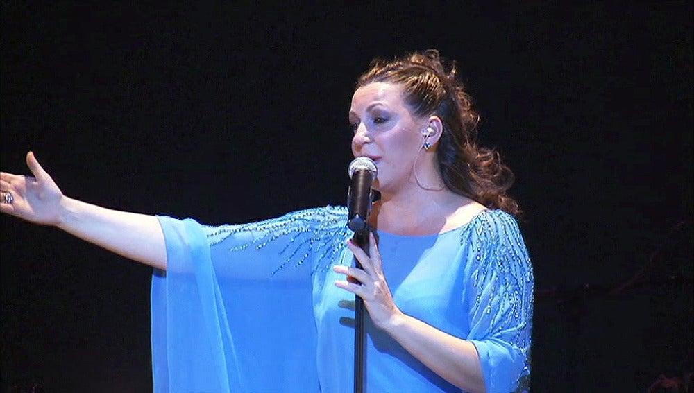 Niña Pastori durante su concierto en Bruselas
