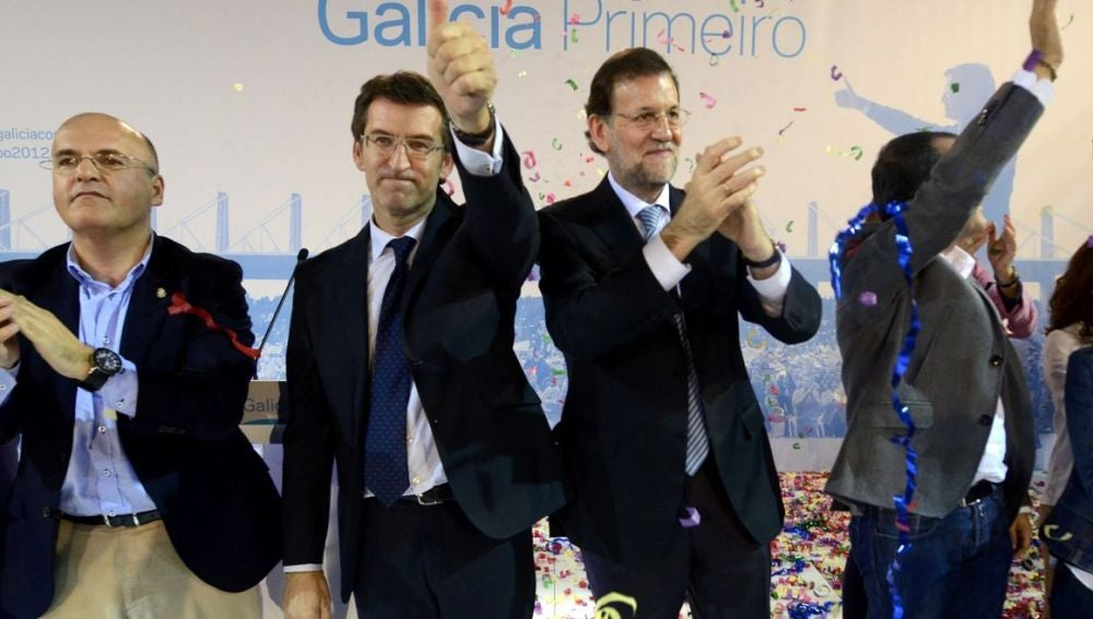 Feijóo junto a Mariano Rajoy