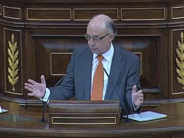 Montoro durante el debate de Presupuestos