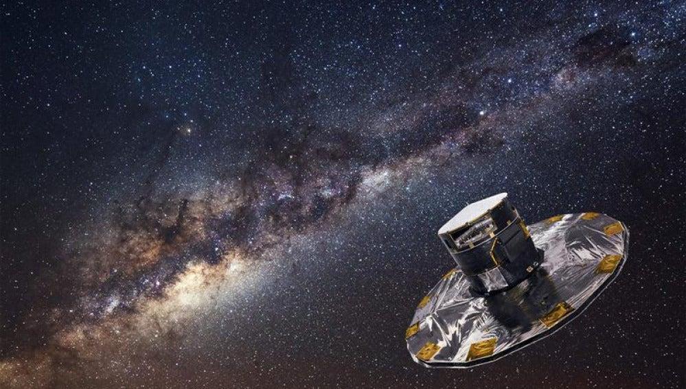 Recreación del instrumento Gaia que censará mil millones de estrellas dentro de la Vía Láctea