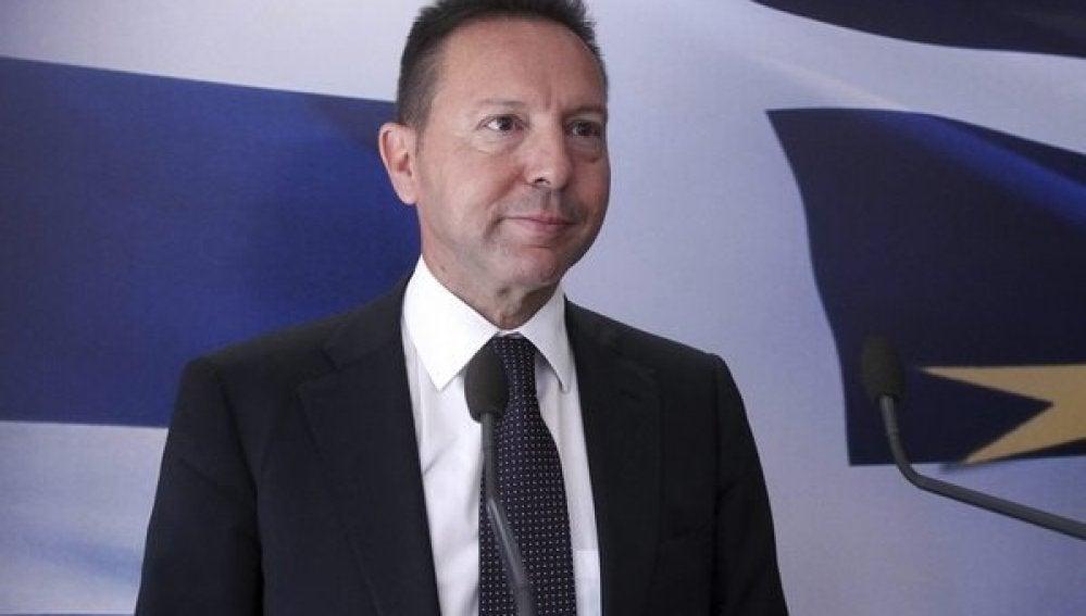 Yannis Stournaras, ministro de Finanzas griego
