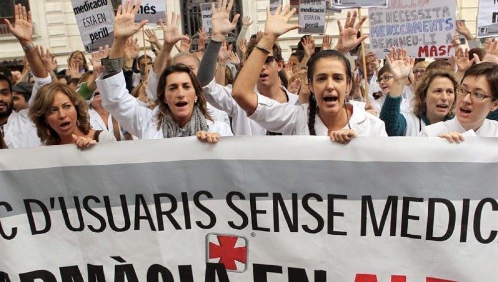 Huelga de farmacéuticos en Cataluña