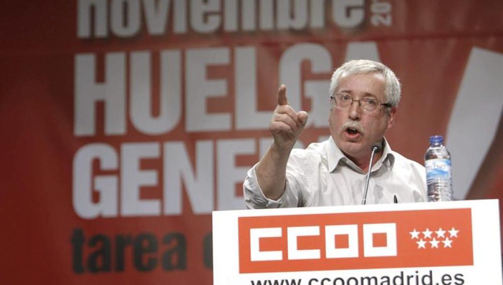 Ignacio Fernández Toxo pide un cambio en las políticas económicas
