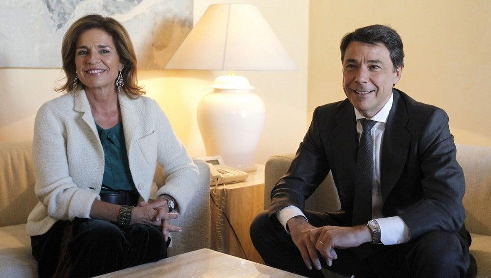 Ana Botella, alcaldesa de Madrid, con Ignacio González, presidente de la Comunidad