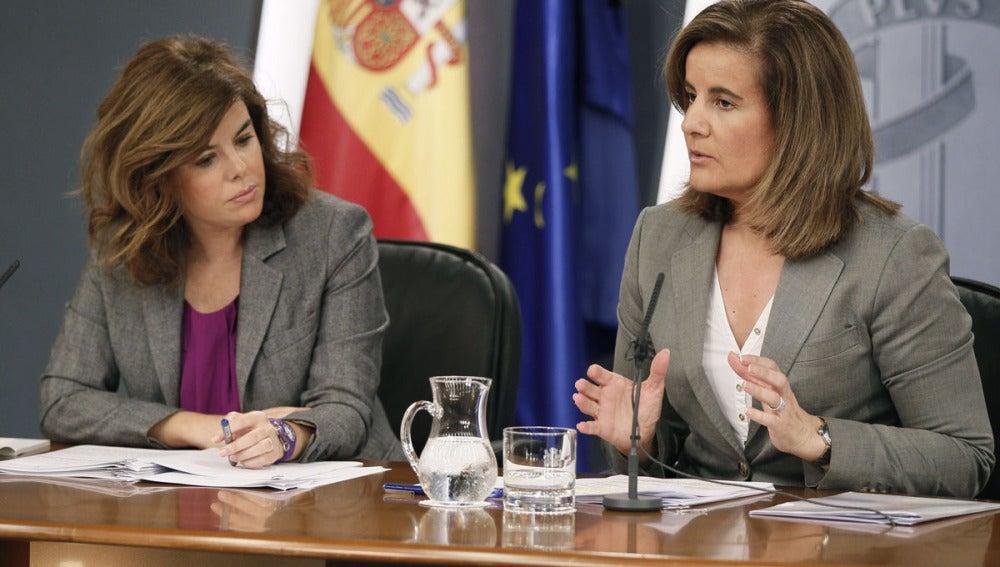 Sáenz de Santamaría y Báñez, tras el Consejo de Ministros