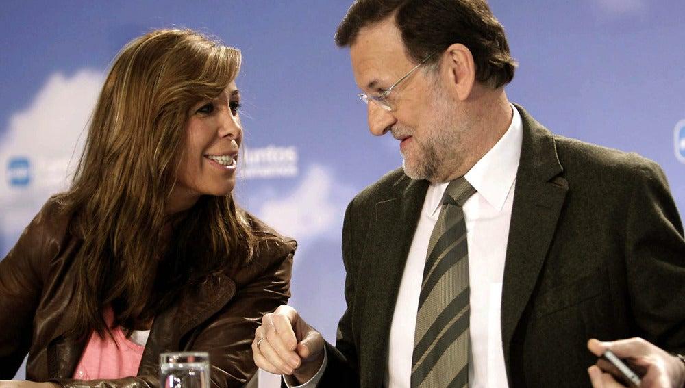 Mariano Rajoy junto a Alicia Sánchez Camacho