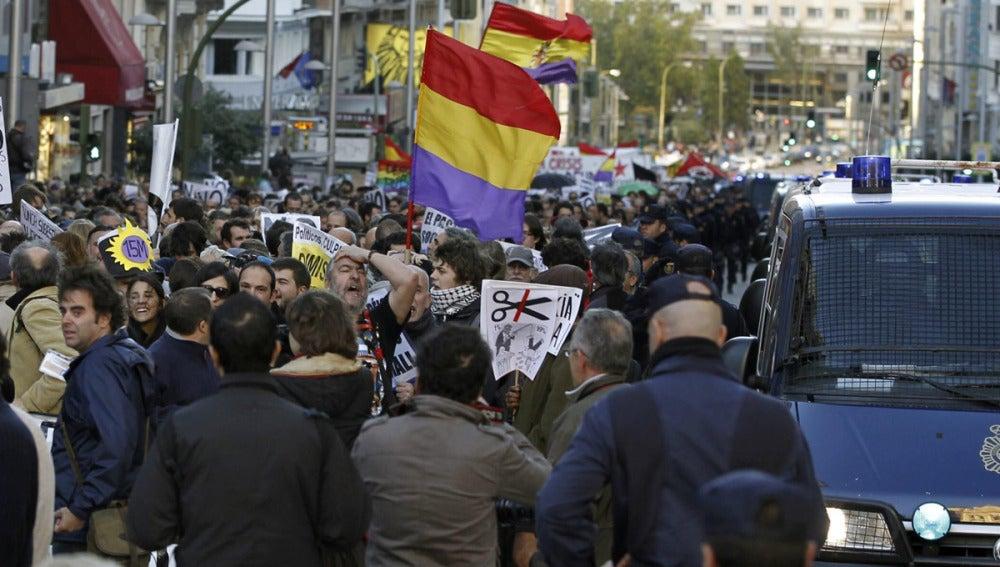 Manifestación en Madrid contra los PGE