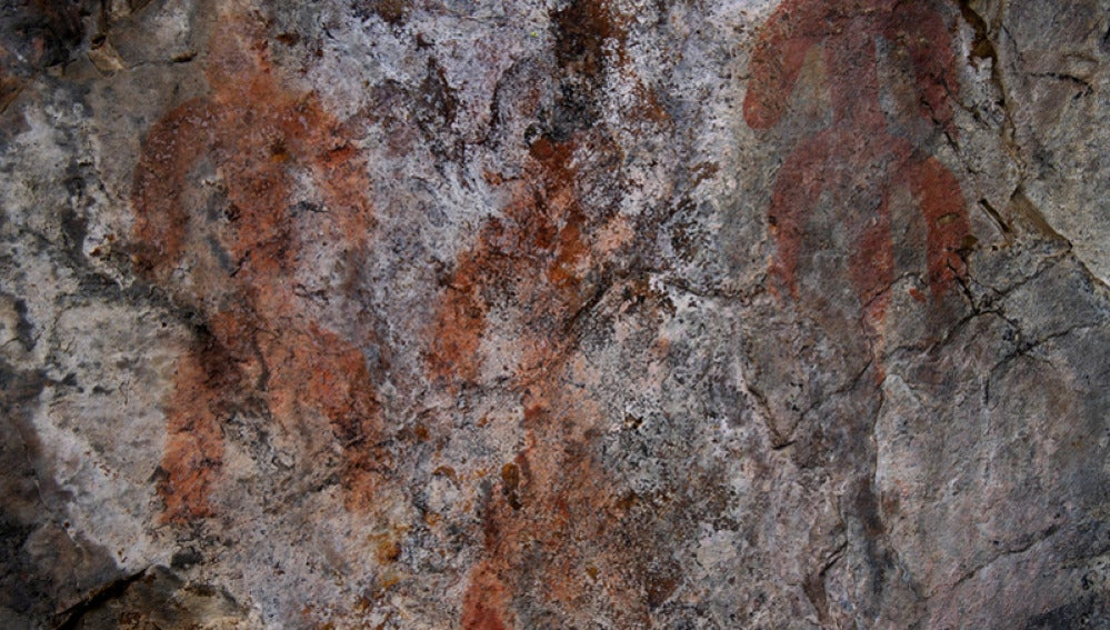 Pintura en la cercana cueva de Peña Piñera (Archivo)