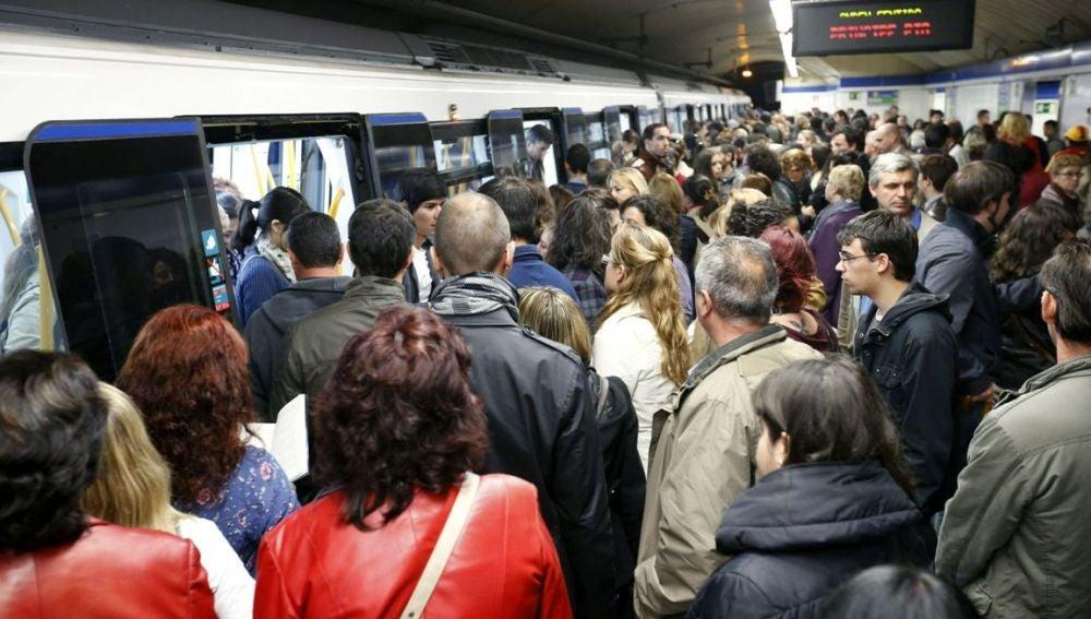 Jornada de paro en el Metro de Madrid.