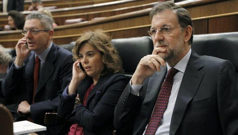 Rajoy, Saéz de Santamaría y Ruíz-Gallardón