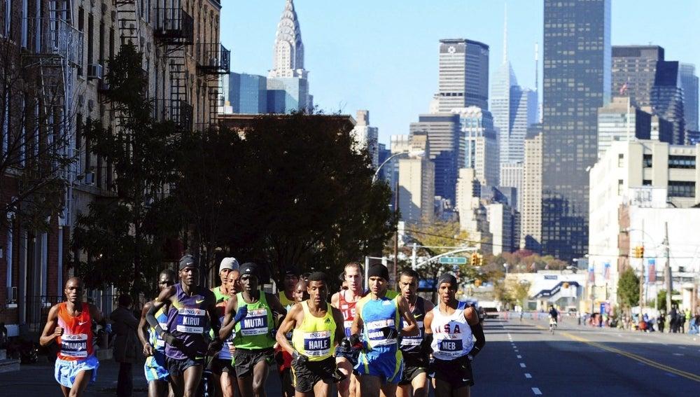 Un momento del maratón de Nueva York