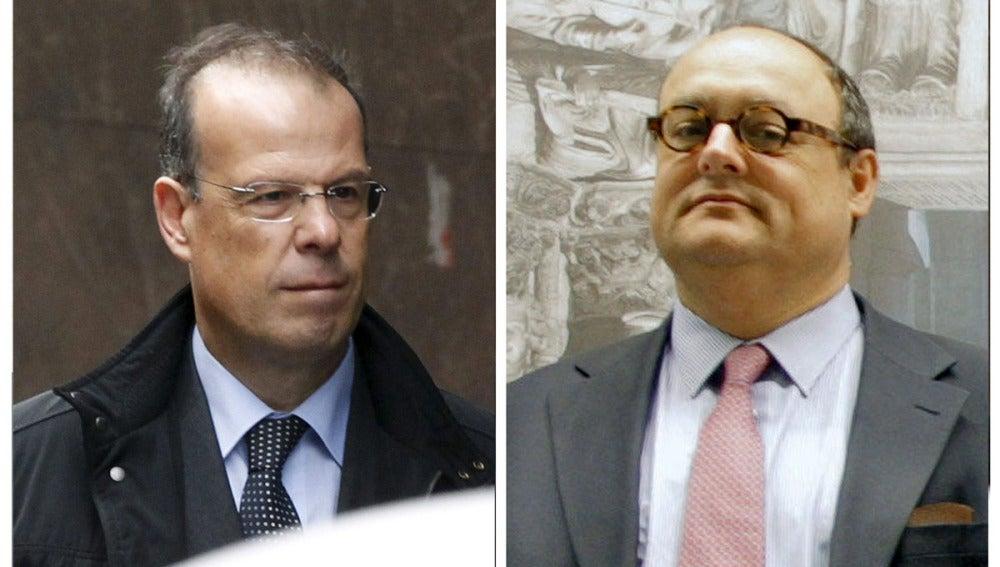 Dos exdirectivos bancarios, Javier García Paredes y José Luis Pego