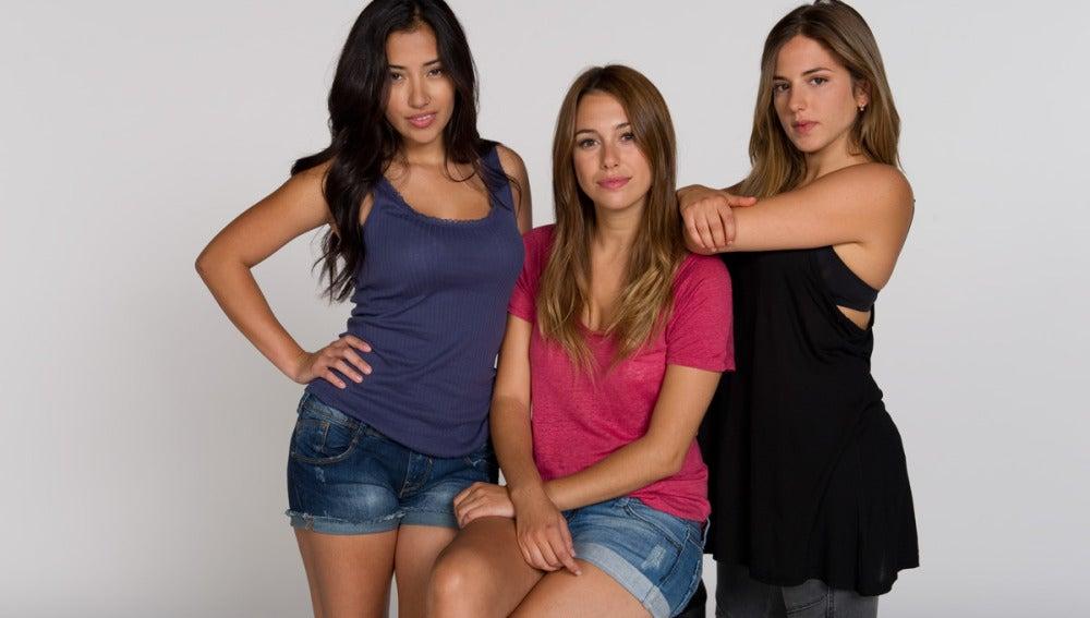 Giselle Calderón, Blanca Suárez y Marina Salas