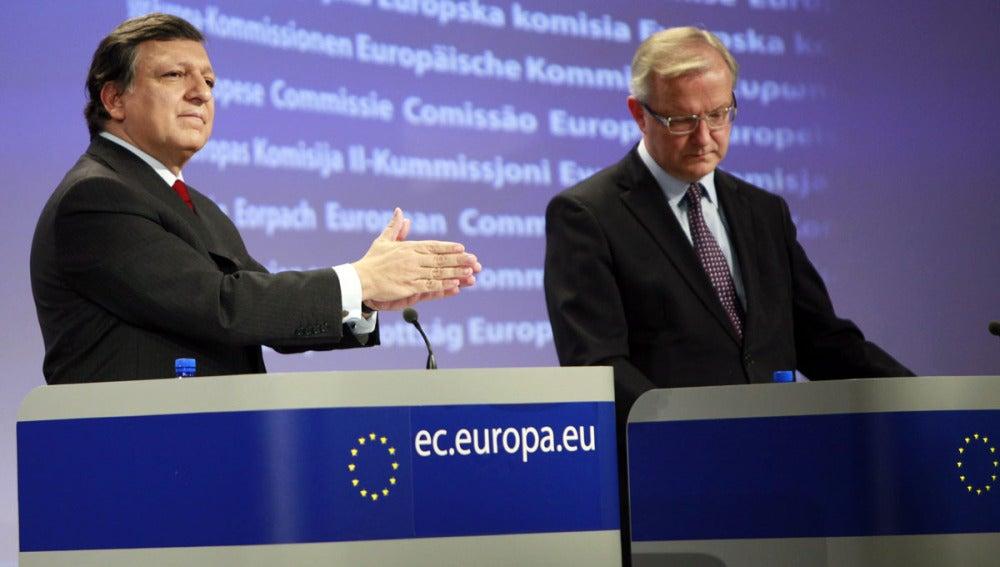 Durao Barroso y Olli Rehn