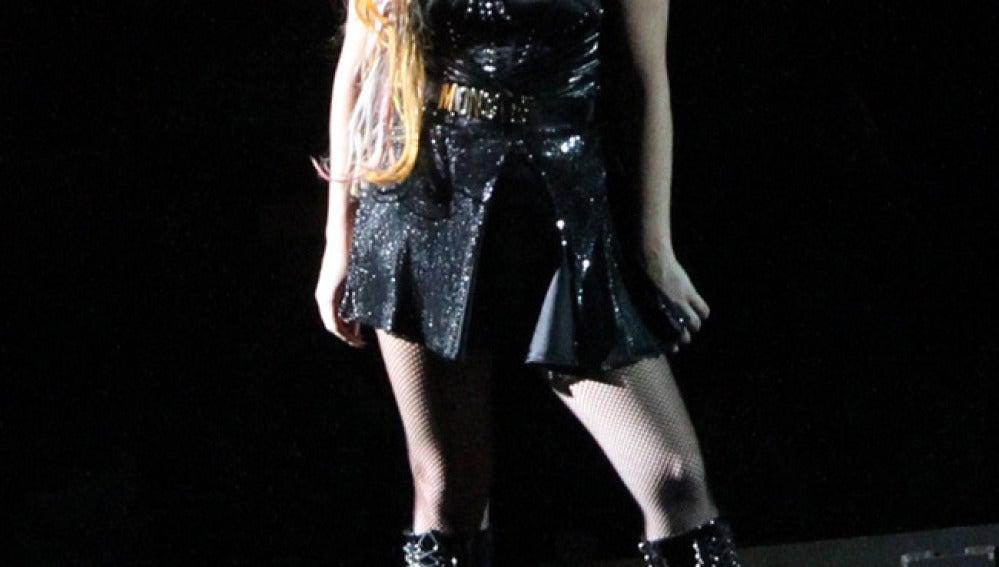 Lady Gaga durante uno de sus conciertos.