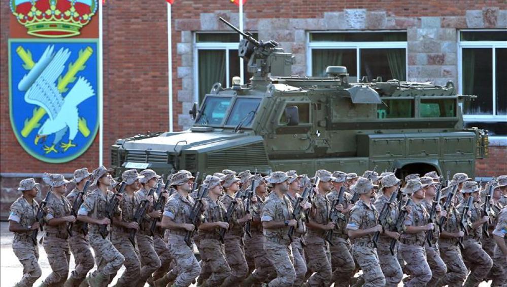 """Soldados del Regimiento de Infantería Ligera """"Príncipe"""" número 3 perteneciente a la BRILAT"""