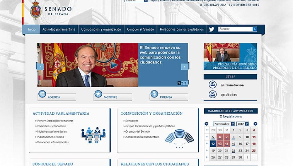 Nueva página web del Senado