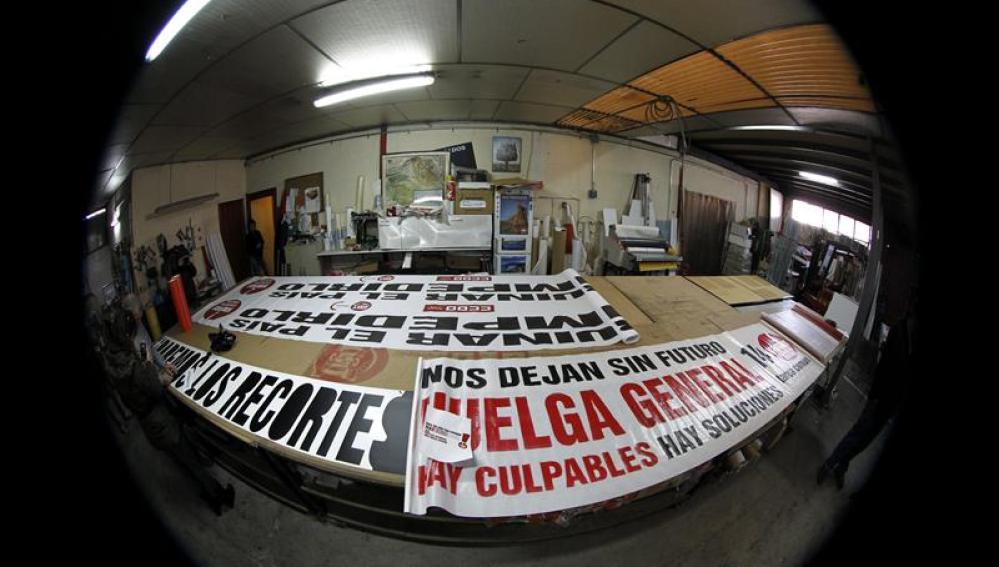 Pancarta de cabecera de la manifestación del 14N en Madrid