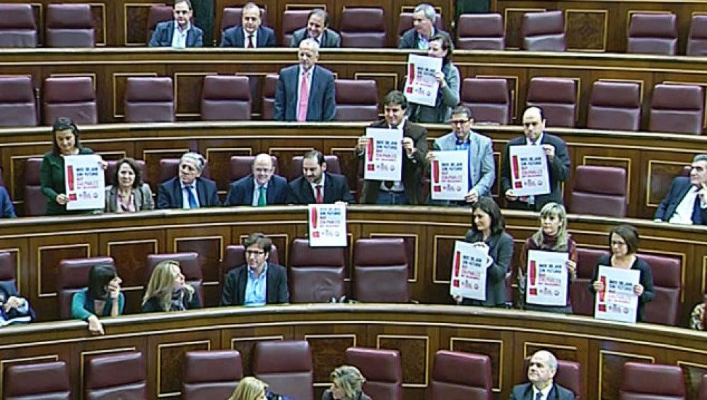 Escaños socialistas a favor del PSOE.