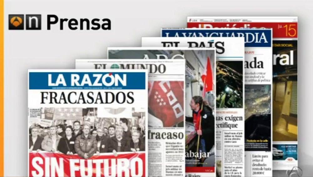 Resumen de prensa tras la huelga general