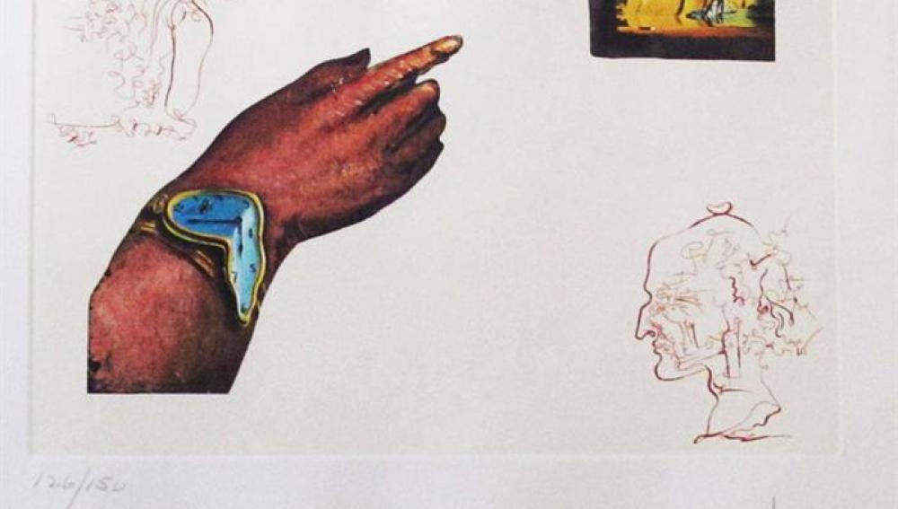 """Grabado de """"Los Ciclos de la Vida: Reflejos"""" de Salvador Dalí"""