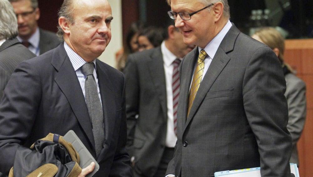 De Guindos en la reunión del Eurogrupo