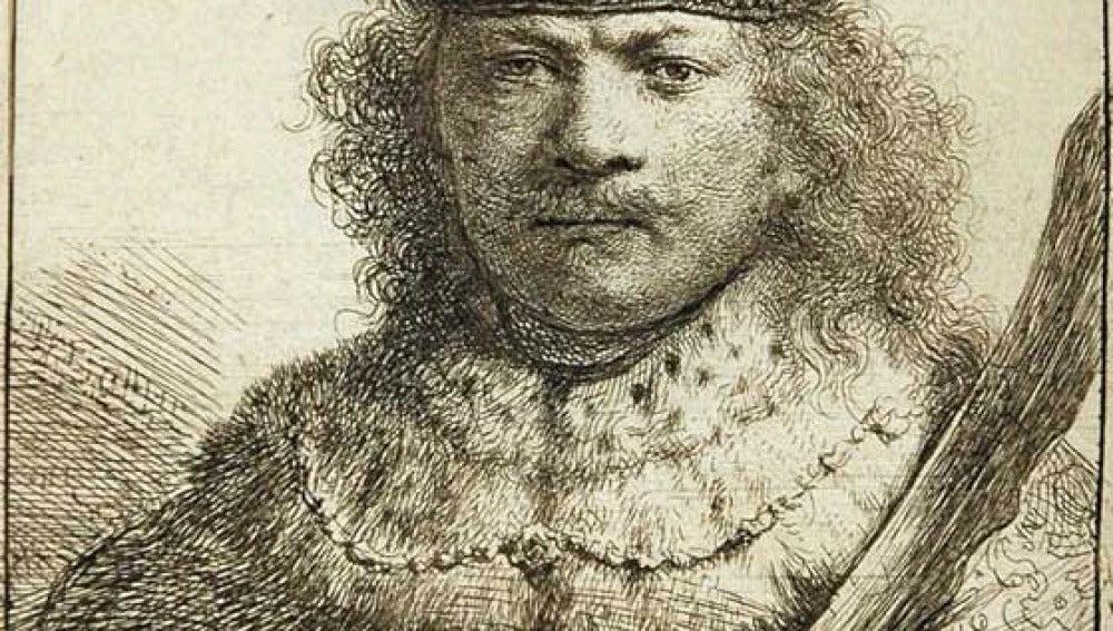 Grabado de Rembrandt