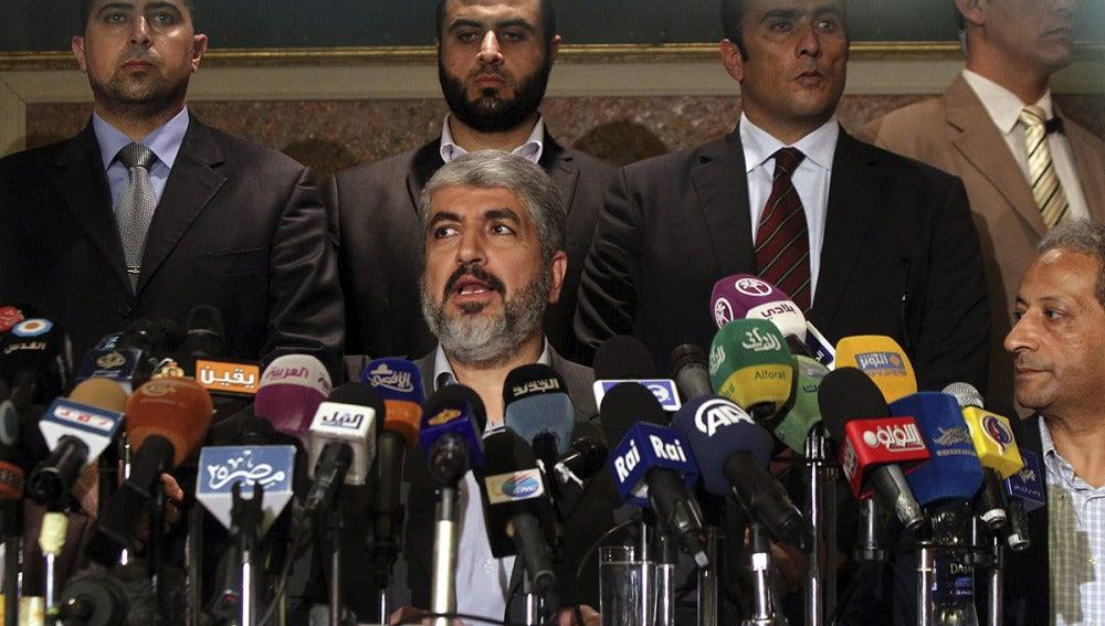 El líder del movimiento islamista palestino Hamás, Jaled Mesha