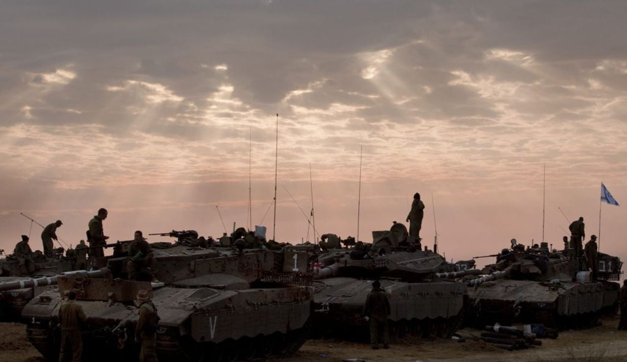 Militares israelíes en la frontera de Gaza -Archivo-
