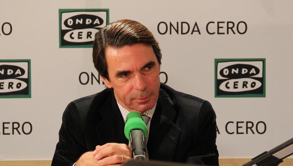 José María Aznar, expresidente del Gobierno en Onda Cero