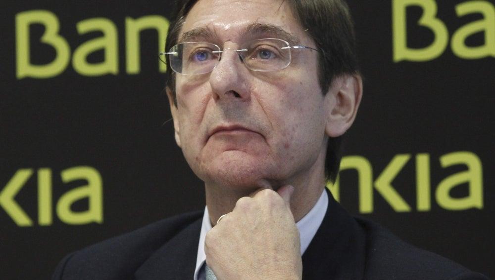 El presidente de Bankia, José Ignacio Goirigolzarri, durante la presentación del plan en Madrid