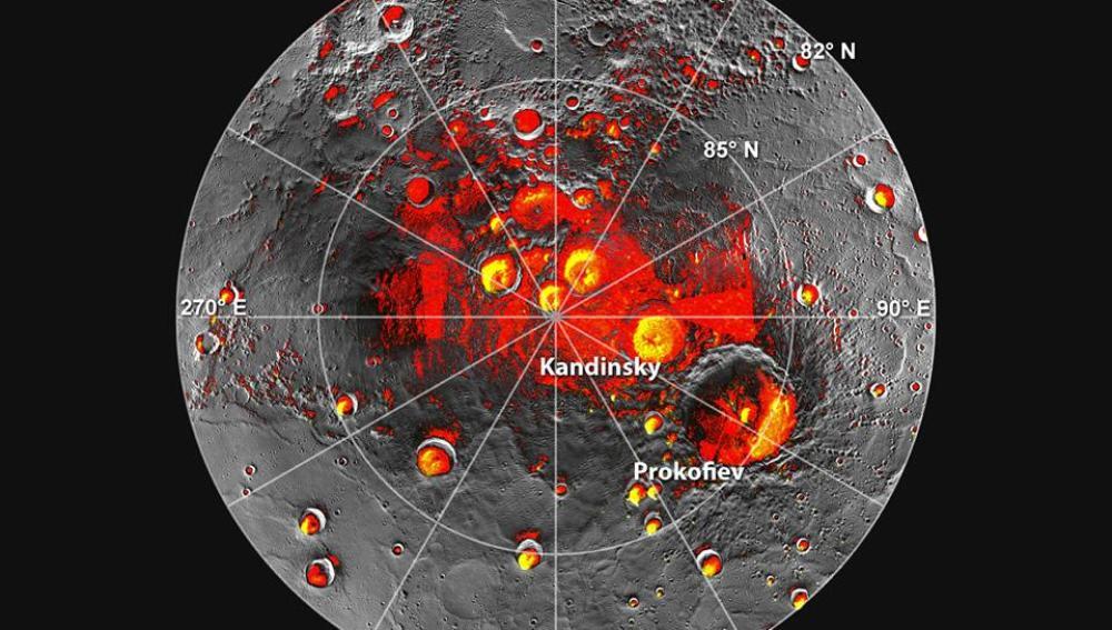 La Nasa encuentra agua helada en Mercurio