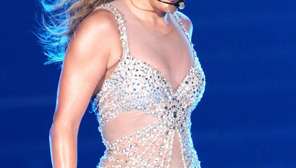 Jennifer Lopez en su gira de conciertos