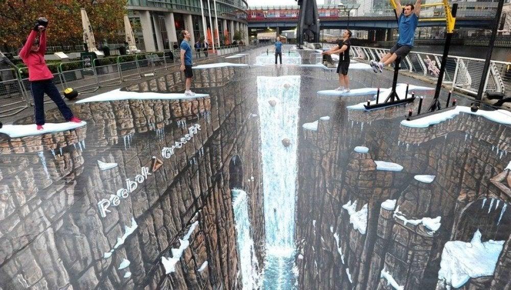 Arte callejero en Canary Wharf