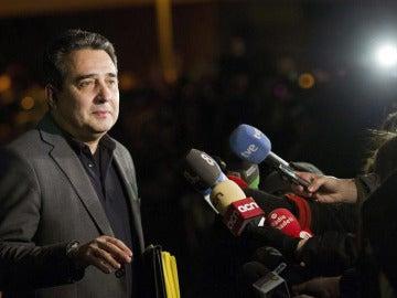 Manuel Bustos, Alcalde de Sabadell, antes de declarar