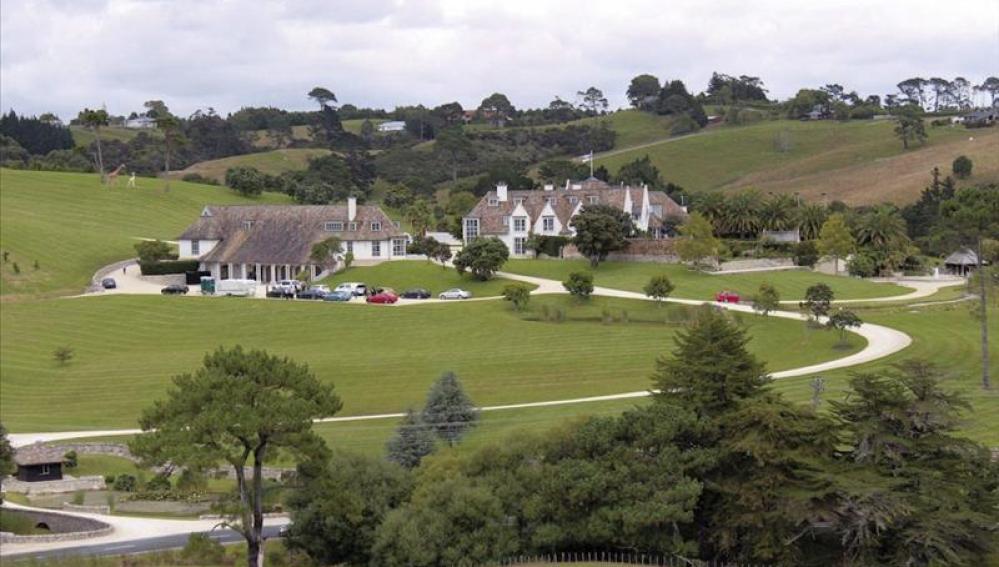 Residencia propiedad del fundador de MegaUpload, Kim Schmitz o Dotcom, en Coatesville