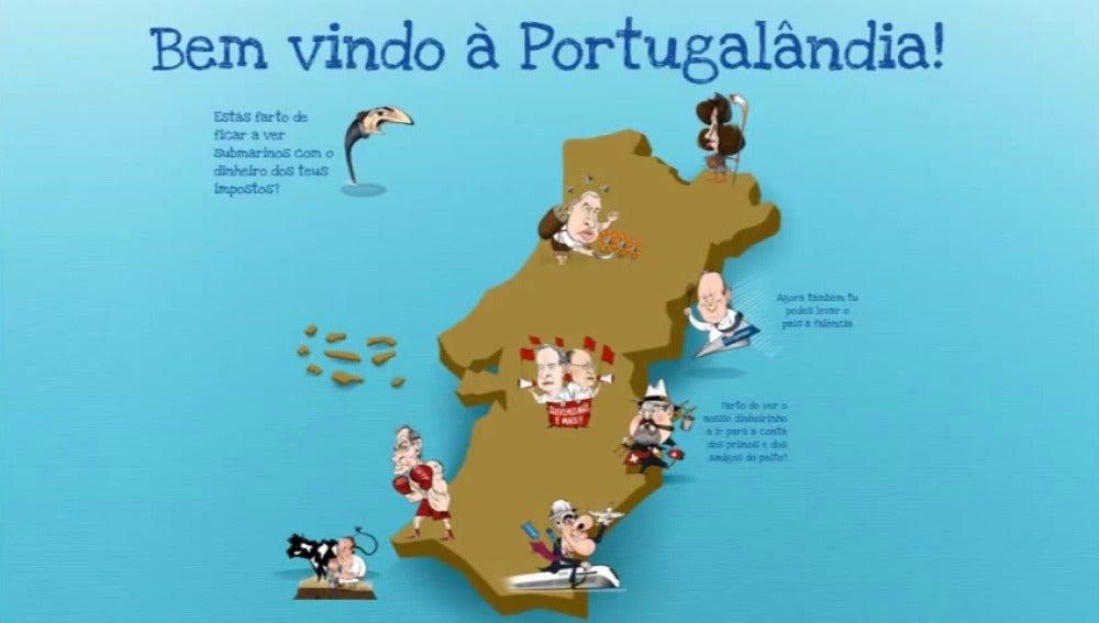 """Ahí llega la troika"", el juego de mesa que arrasa en Portugal"