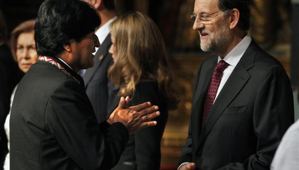 Evo Morales y Mariano Rajoy