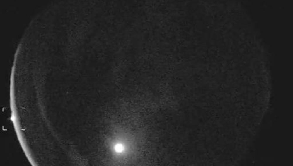 Captura de la bola de fuego sobrevolando Texas