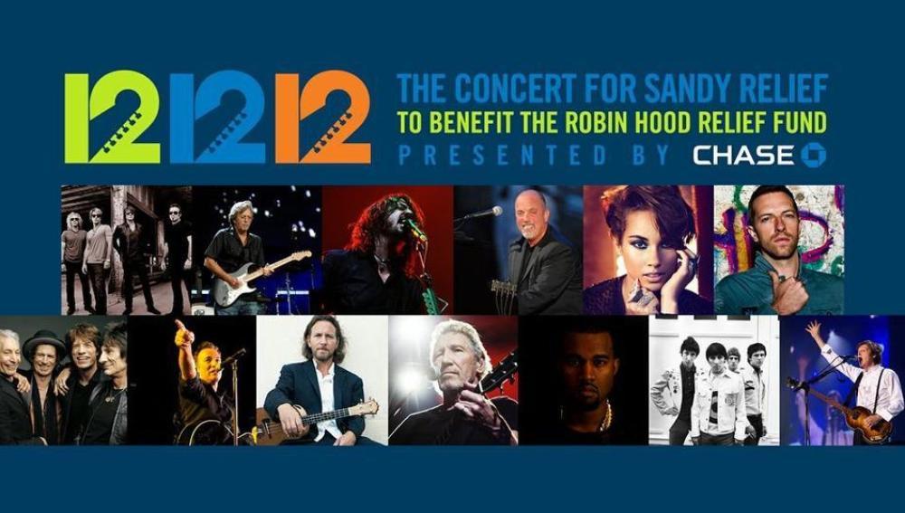 El concierto a favor de las víctimas de Sandy