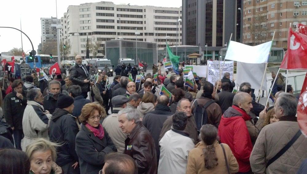 Protesta en Bankia por el ERE