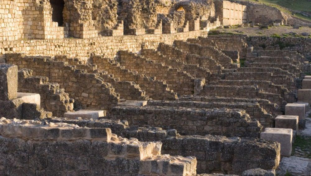 Yacimiento en la ciudad romana de Valeria