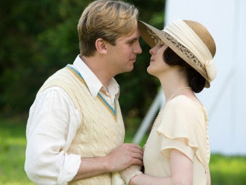 Matthew y Lady Mary Crawley