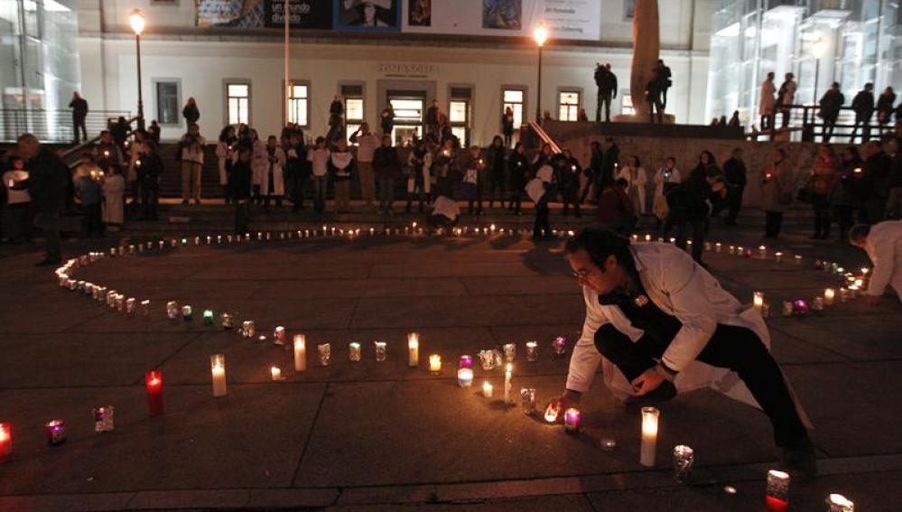 Concentración en Madrid contra la privatización de la sanidad pública