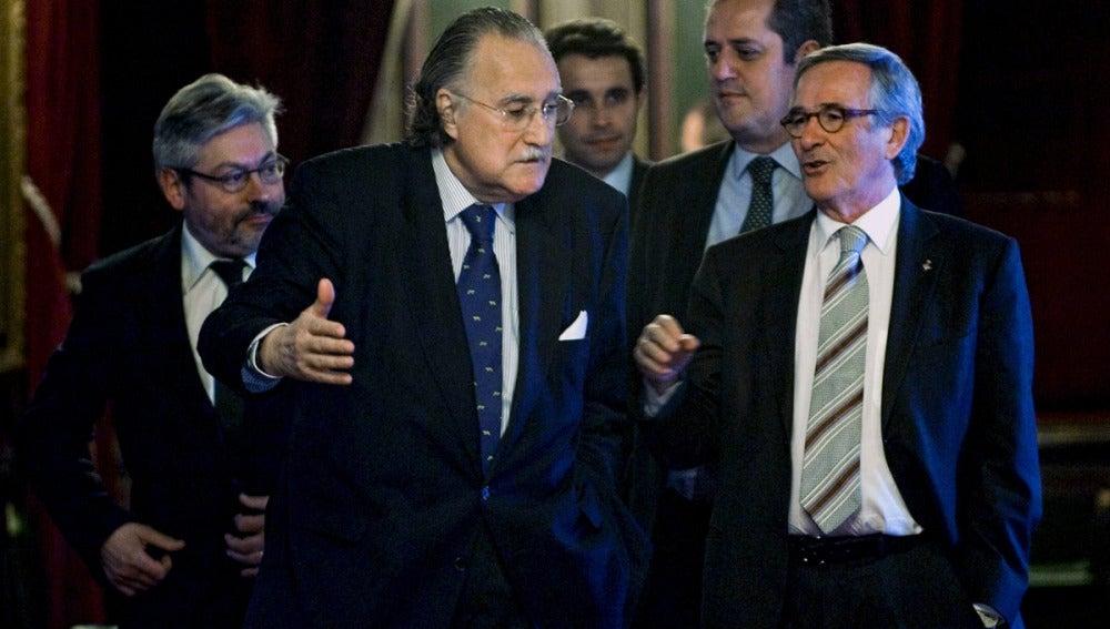El alcalde de Bilbao conversa con Xabier Trias