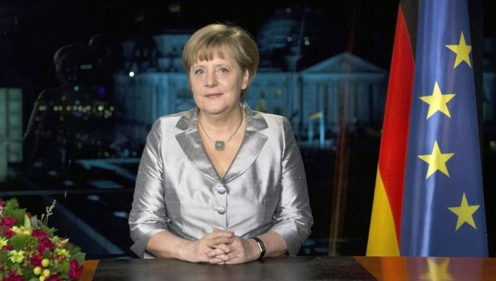 Angela Merkel, en el mensaje de Año Nuevo