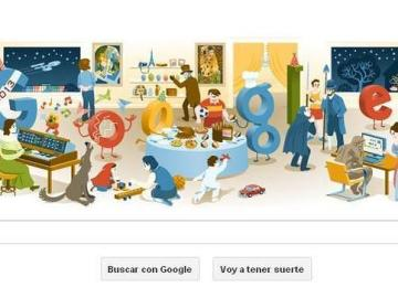Doodle para celebrar la Nochevieja 2012