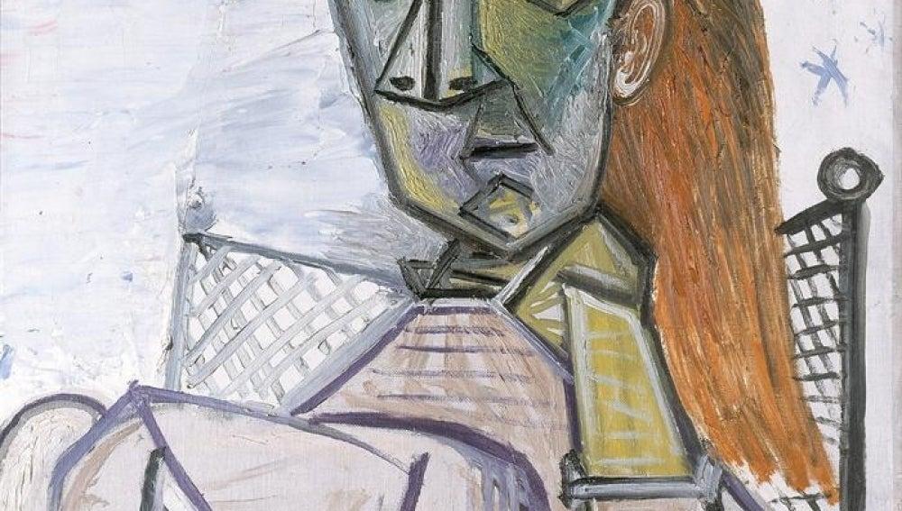 """""""Femme assise dans un fauteuil"""" de Pablo Picasso"""