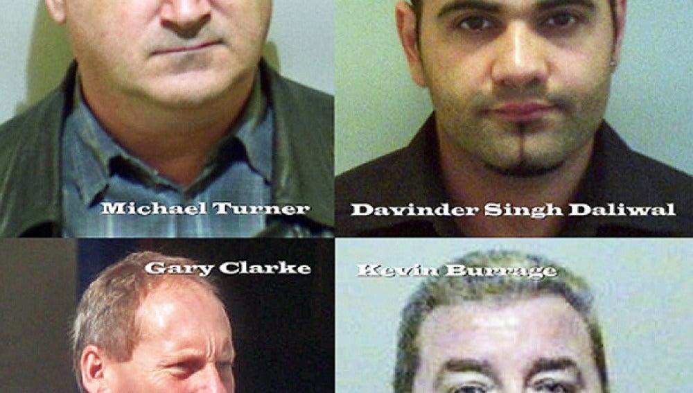 Imágenes de algunos de los defraudadores del año en Reino Unido.